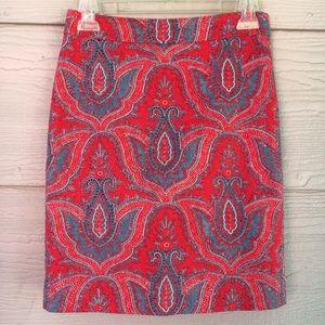J. Crew • Raj Paisley No. 2 Pencil Skirt